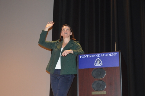 Boston University Lecturer Speaks at Love Your Body Week Assembly